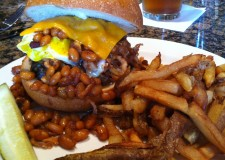 The Cowboy Burger at The Sturges Speakeasy.