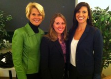 In the Green Room at WITF: Anne, Kendra and Sara