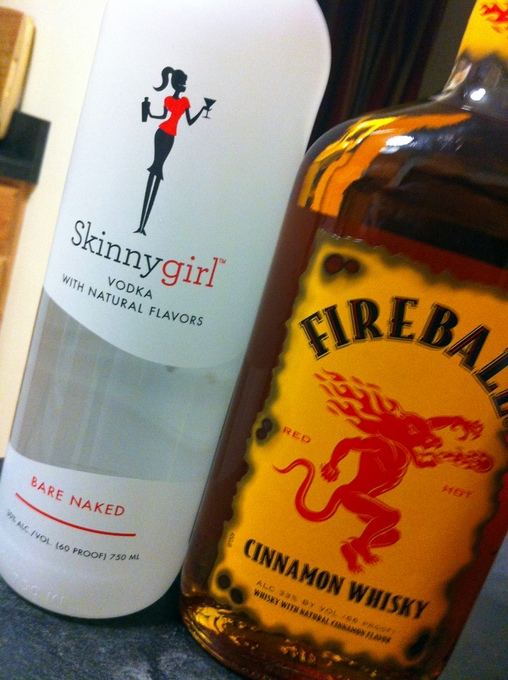 My family gifted me both Skinnygirl Vodka and Fireball Whisky this Christmas.