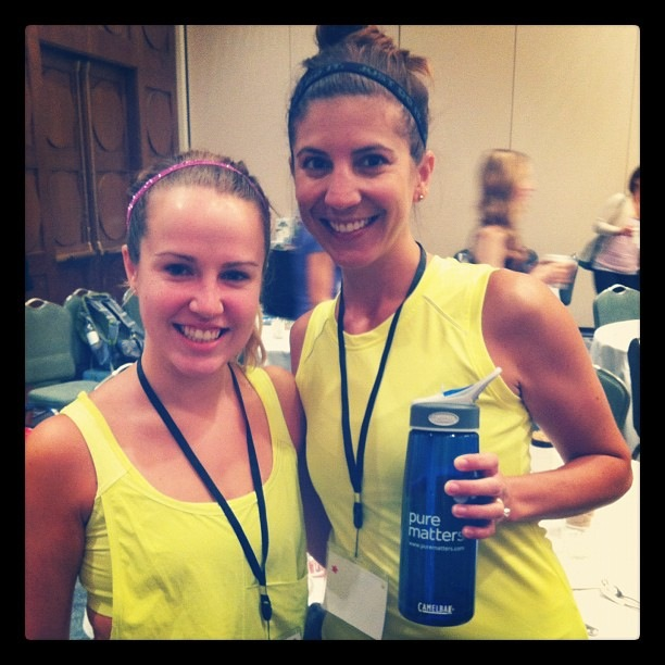 Juliette from Pure Matters and me at the '12 Healthy Living Summit in Boston.