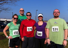 The #badfast crew after last year's Nikoli's 5K on St. Patrick's Day.