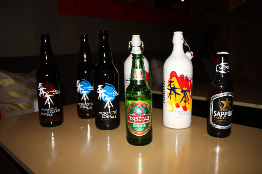 W&L Sales provided free samples of Rogue Ales' Morimoto line, among others.