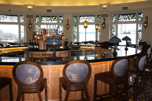 Design For Second Floor Circular Bar Sans Chairs  Alexandria Extraordinary Hershey Circular Dining Room Inspiration
