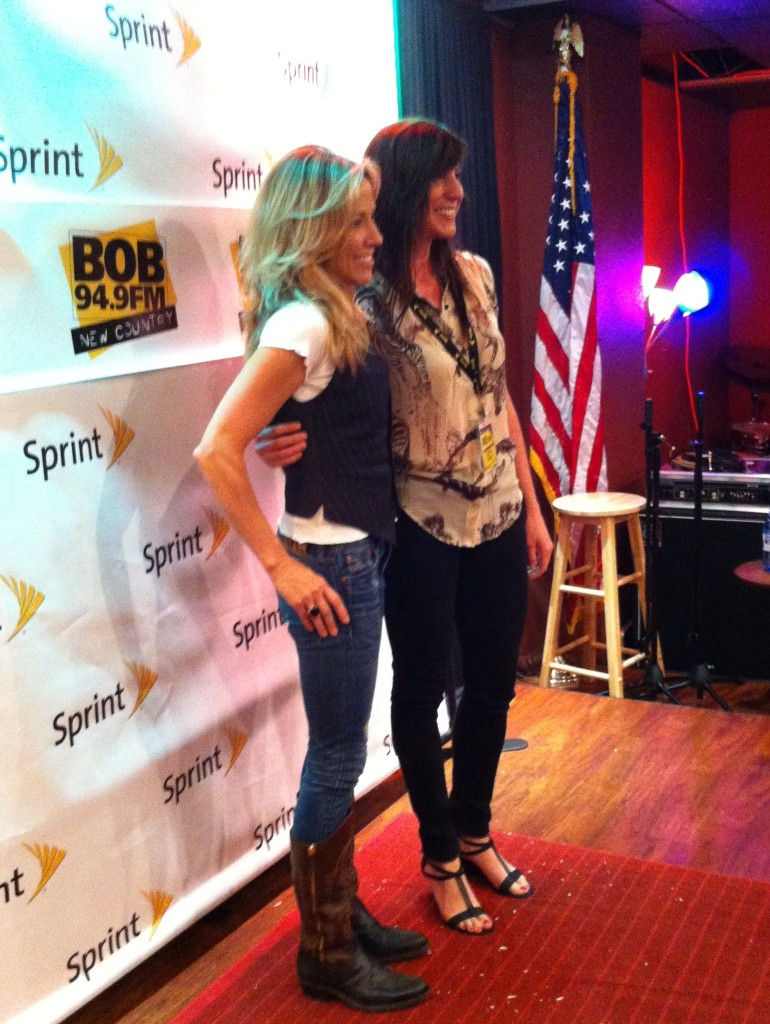 I got to briefly meet Sheryl Crow this week at BOB/The River's iHeart Radio Studio.