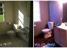 Bathroom before-after