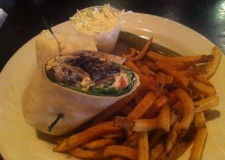 The new Portabella Goat Cheese Wrap at Ceoltas Irish Pub.