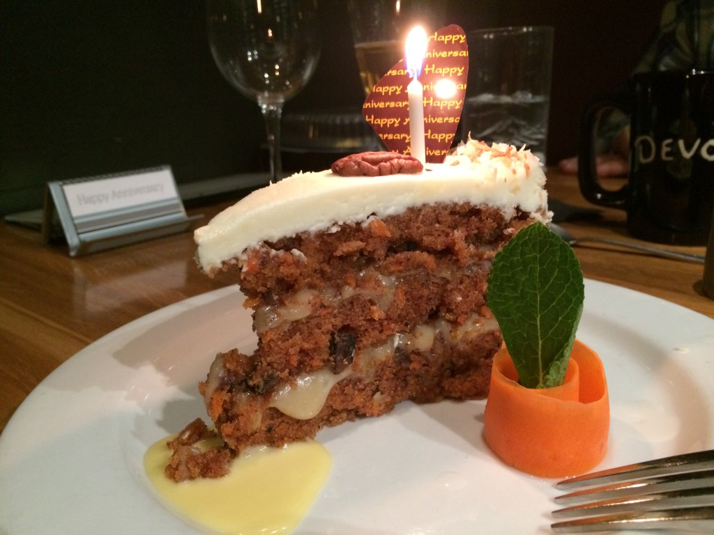 Carrot Cake at Devon Seafood Grill Hershey.