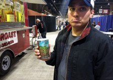"Andy and his $4 ""Large"" drink at the Great American Outdoors Show."