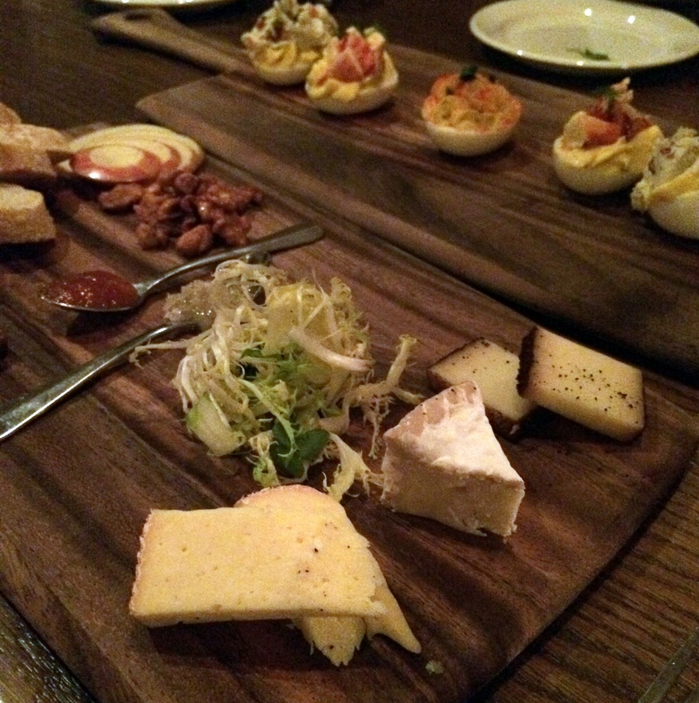 Artisan cheese plate, deviled eggs trio at Home 231.