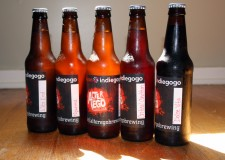 Sample bottles from Alter Ego Brewing Co.'s crowdfunding campaign.