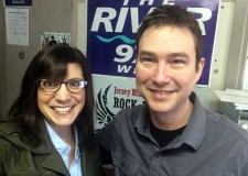 Sara with Glenn Hamilton -- every Friday morning on The River 97.3.