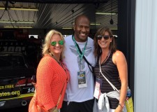 With former Steeler James Harrison at the Pocono Raceway Go Bowling 400.