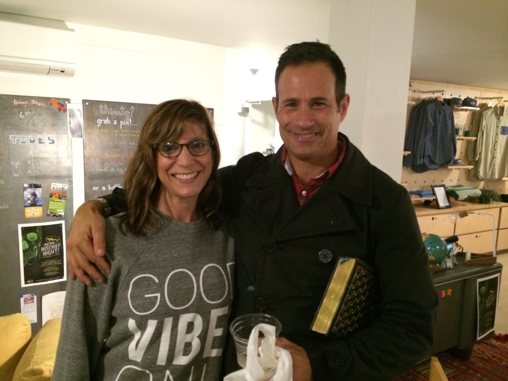 Sara with Dogfish Head founder Sam Calagione.