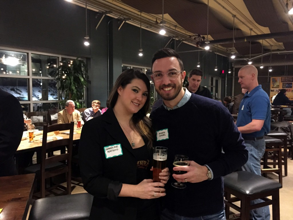 Brandalynn Armstrong of Zeroday Brewing Co. and Andy Enders of Enders Insurance.