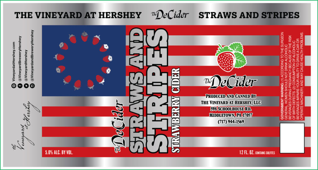 vineyard brewery hershey strawberry cider