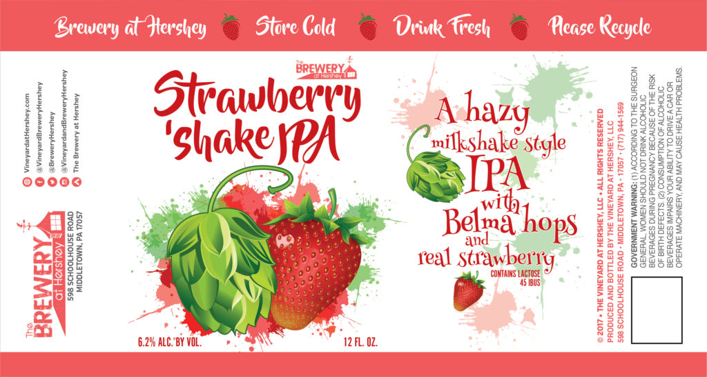 vineyard brewery at hershey strawberry