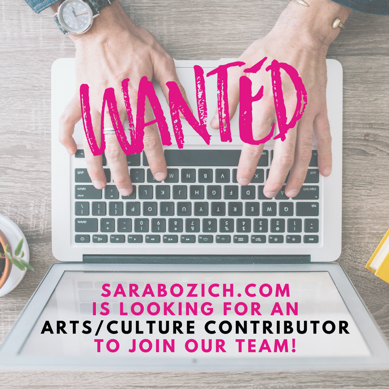 wanted: arts/culture contributor