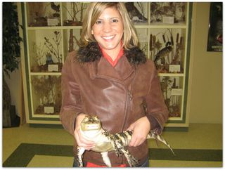 Me with Victor the Alligator at Creatures of the Night at ZooAmerica (2008)