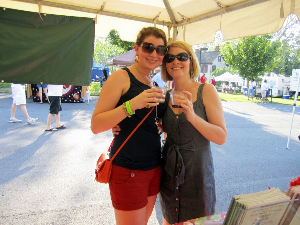 Lauren and Tierney at last year's Dauphin County Wine & Music Festival.