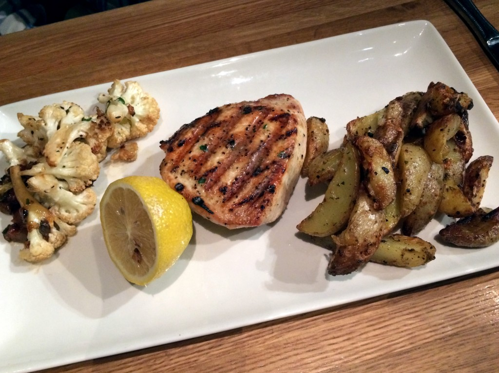 Grilled Wahoo, roasted potatoes and cauliflower at Devon Seafood Grill Hershey.