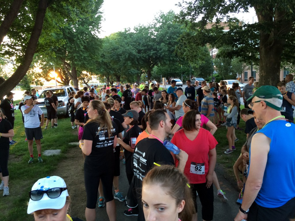 Getting ready for the first annual Harrisburg Glow Run 5K.