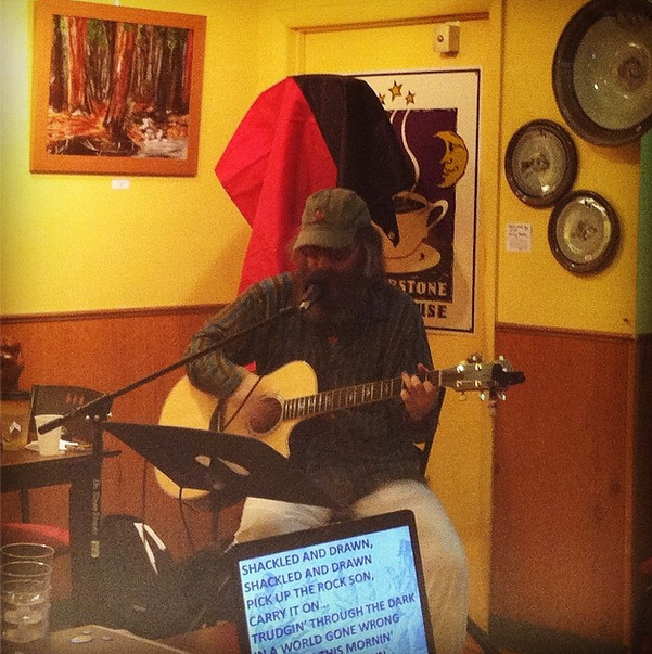 Doug Morris performs the best of Bruce Springsteen at Cornerstone Coffeehouse.