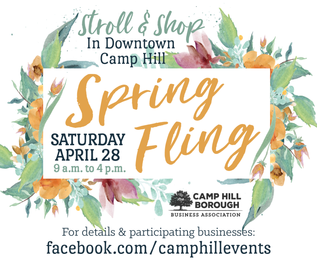 Spring Fling Stroll Shop In Downtown Camp Hill April 28
